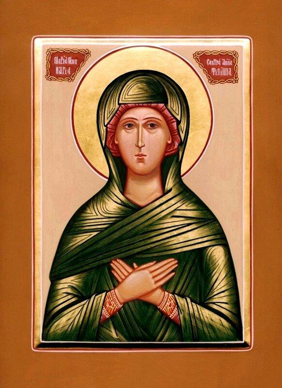 Святая Праведная Мариамна, сестра Святого Апостола Филиппа. Иконописная мастерская Екатерины Ильинской.