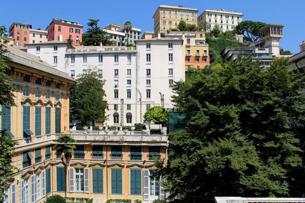 A vista do terraço do Palazzo Bianco