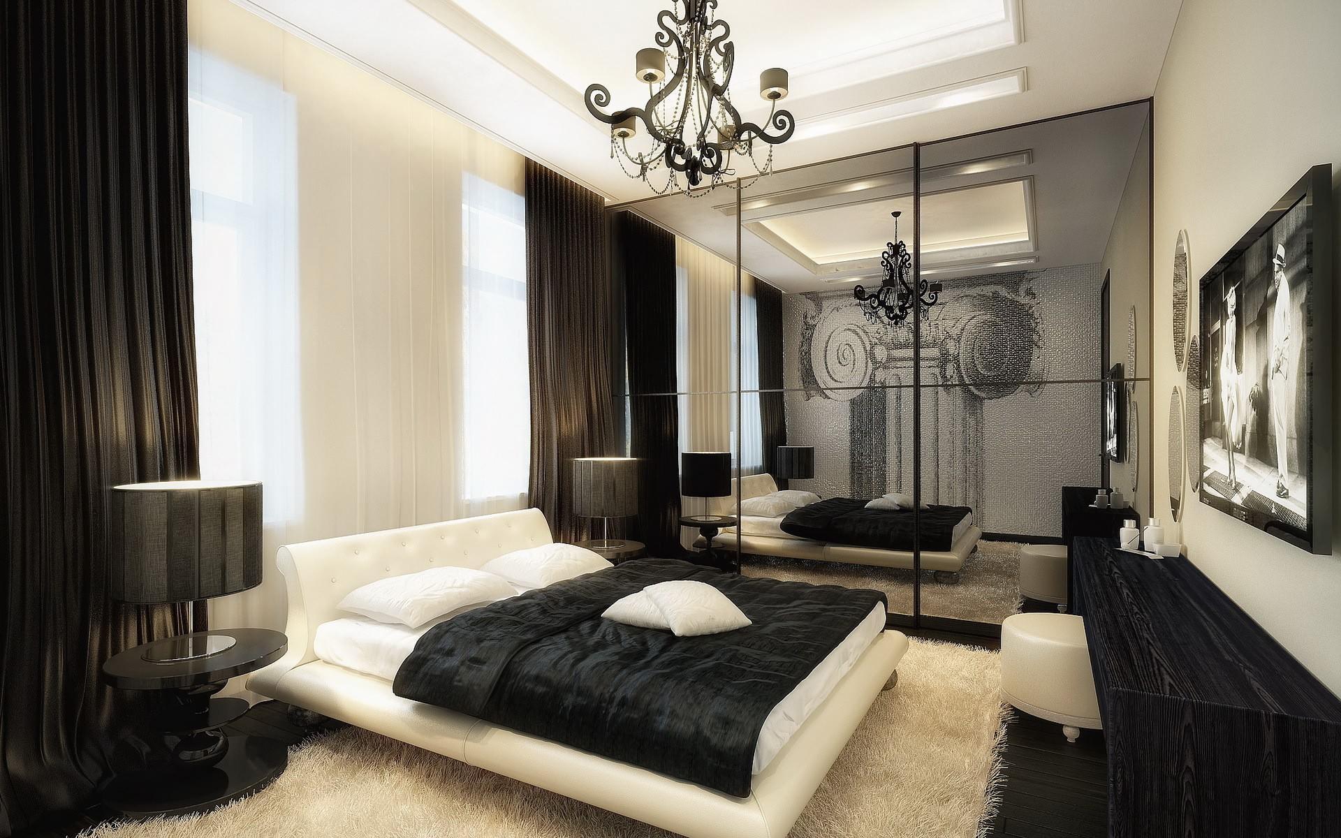 Спальни дизайн черная