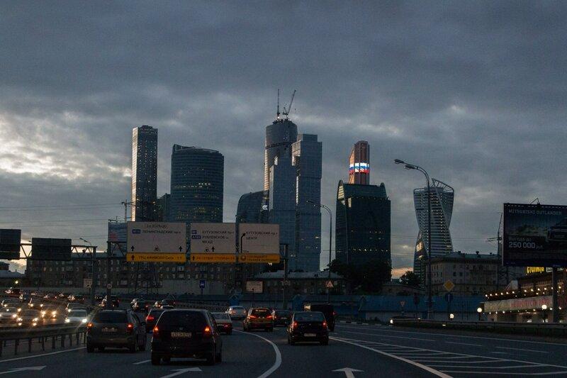 Москва-сити со стороны ТТК