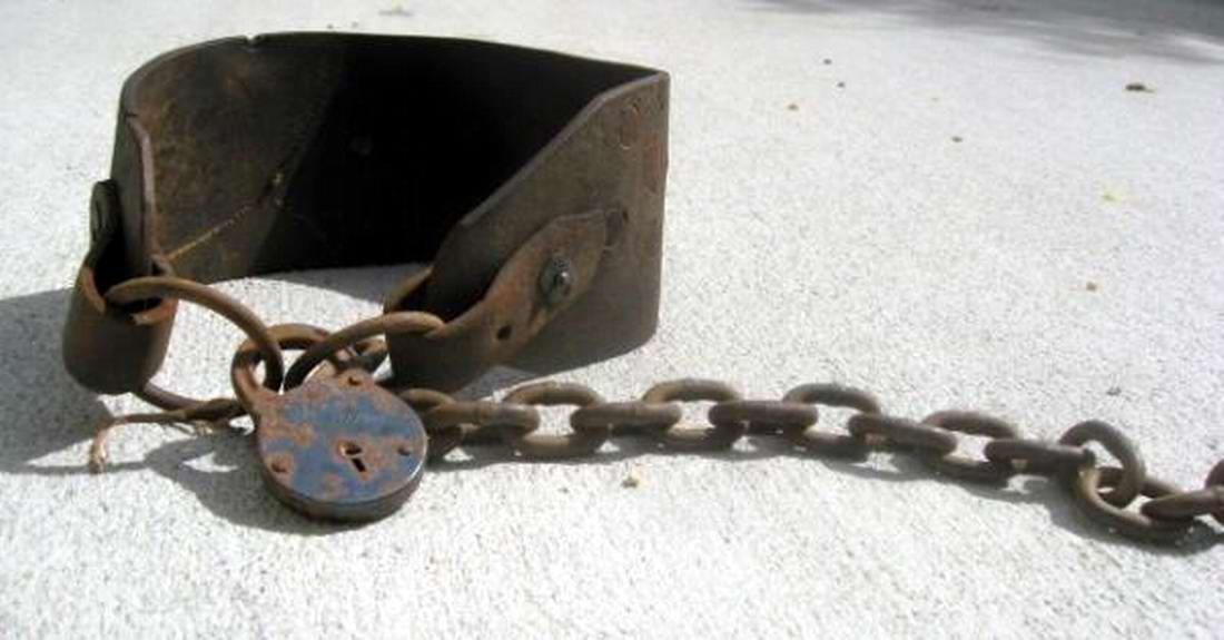 Ошейник североамериканского раба, изготовленный в 1840-х годах (2)
