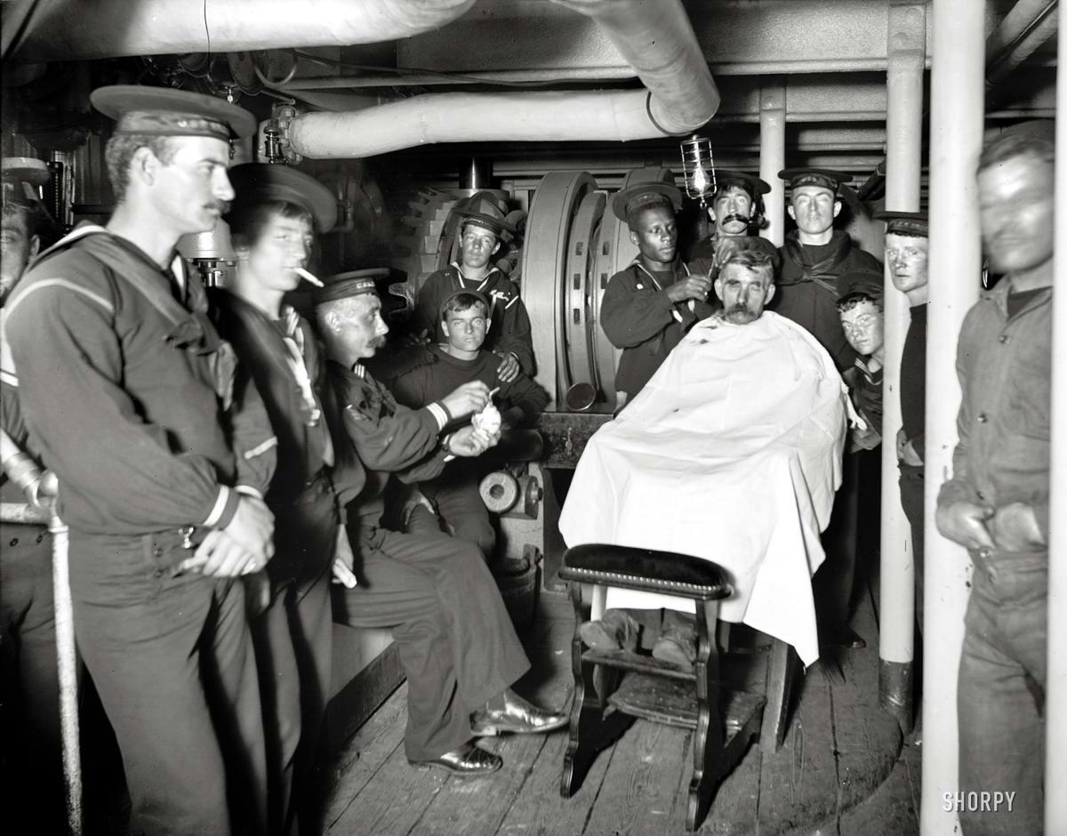 Корабли, речные суда и военные моряки на снимках американских фотографов конца 19 века (35)