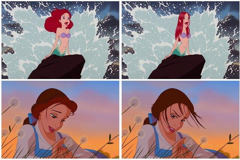 Если бы у диснеевских принцесс были реальные волосы
