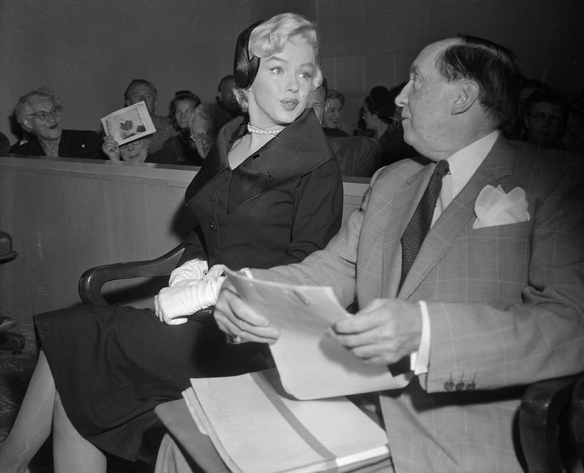 Marilyn Monroe in Court