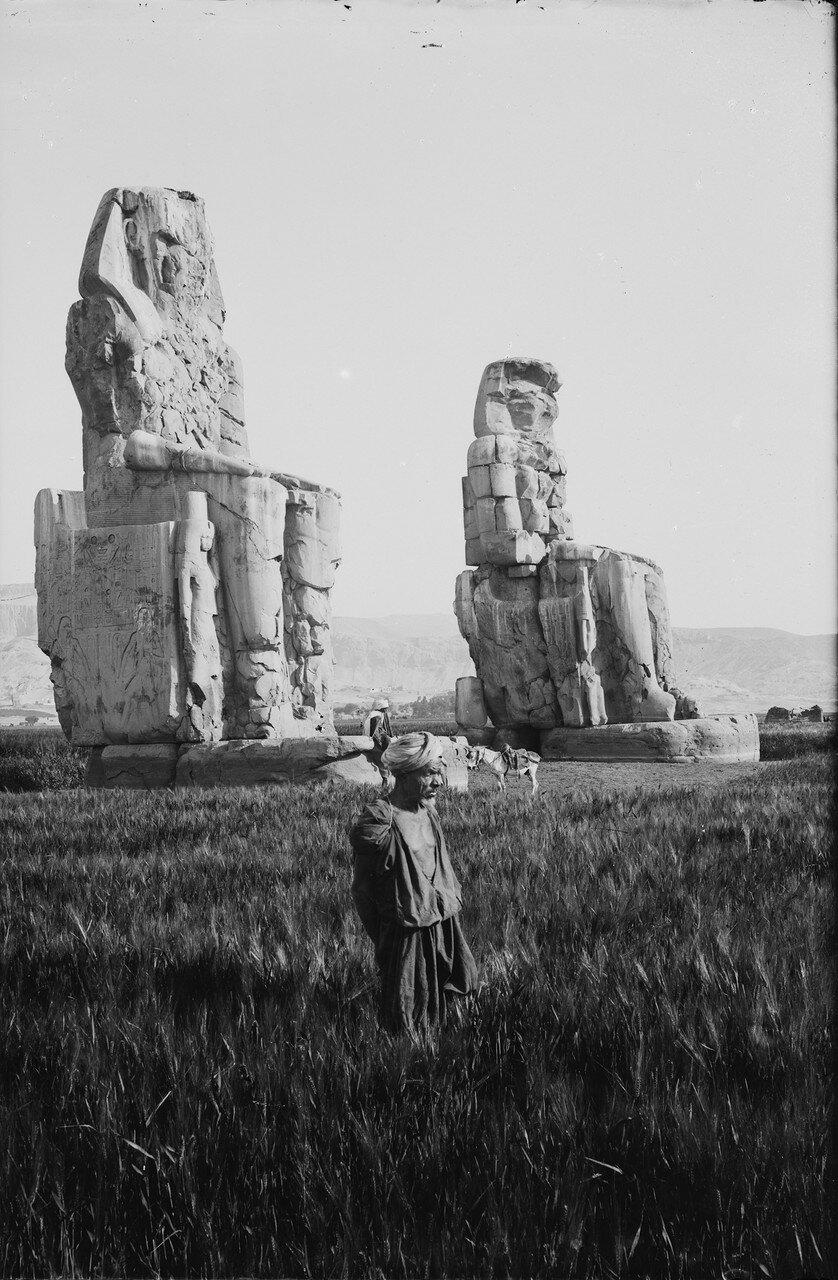 Фивы. Колоссы Мемнона,1870