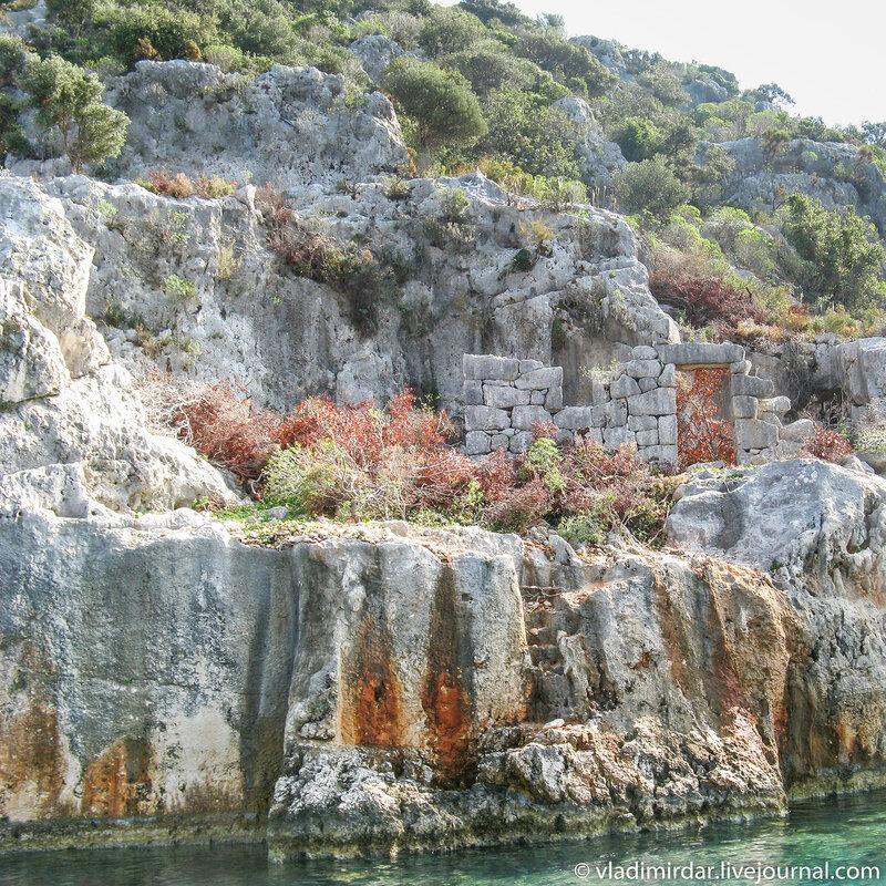 Руины древнего средиземноморского города Долихисте