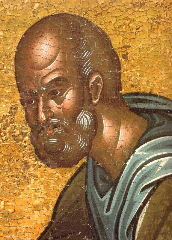 Святой Преподобный Иосиф Песнописец. Икона в монастыре Ватопед на Святой Горе Афон. Фрагмент.