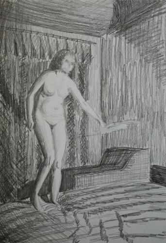 Танец с трусами перед лампой