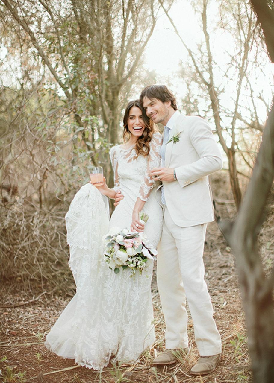 Появились фотографии со свадьбы Сомерхолдера и Рид