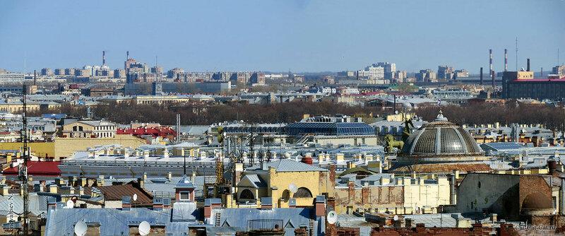 Панорама Санкт-Петербурга, вид сверху