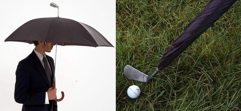 16. Зонт-клюшка Зонт, который легко превращается в клюшку для гольфа.