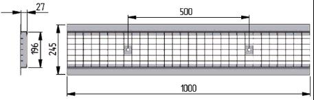Ячеистая стальная оцинкованная решетка DN200
