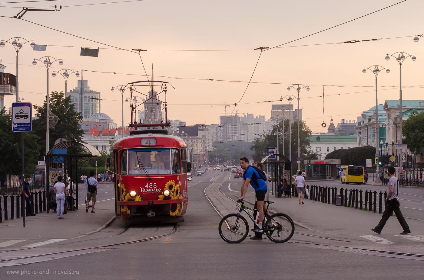 Фотография 22. Вечерний Екатеринбург, снятый на Nikon D5100 (1000, 70, 8.0, 1/320)