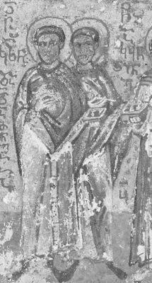 Свв. Косьма и Дамиан. Миниатюра. Афон (Иверский м-рь). Конец Свв. Косьма и Дамиан в. C 1913 года в Российской Публичной(ныне Национальной) библиотеке в Санкт-Петербурге.