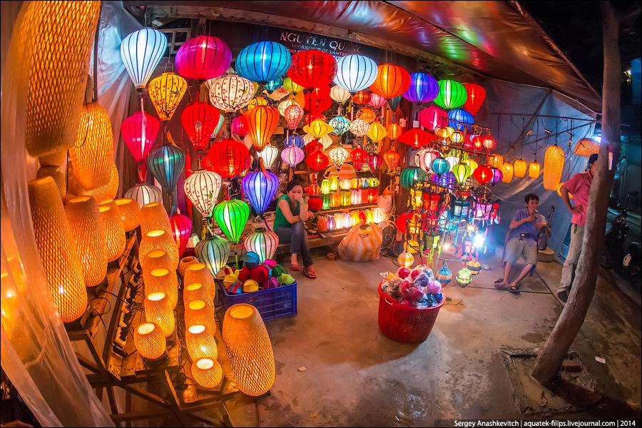 Китайские фонарики в Хой Ан