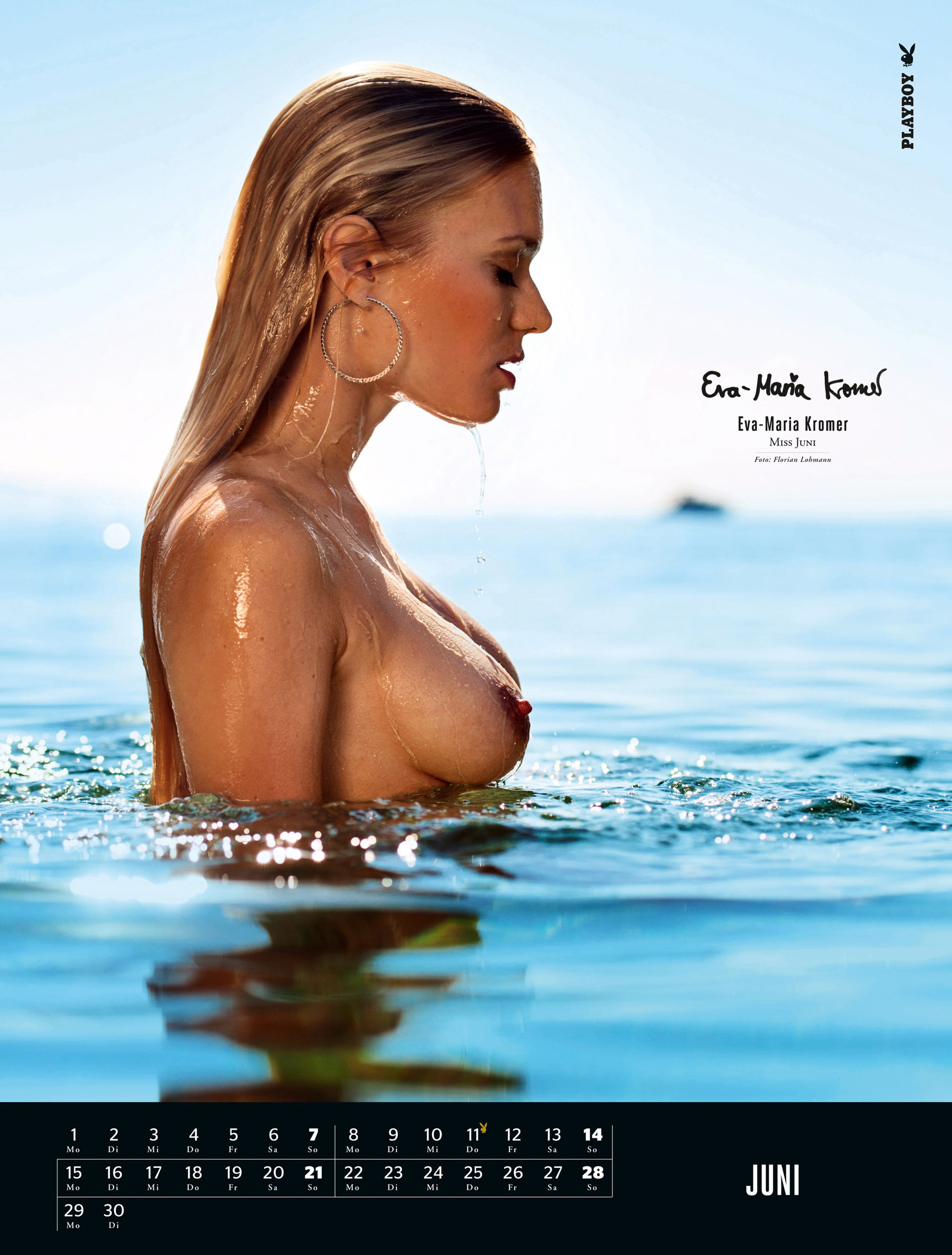 ����������� ��������� Playboy Germany Playmate Calendar 2015 - Miss June 2014 Eva-Maria Kromer