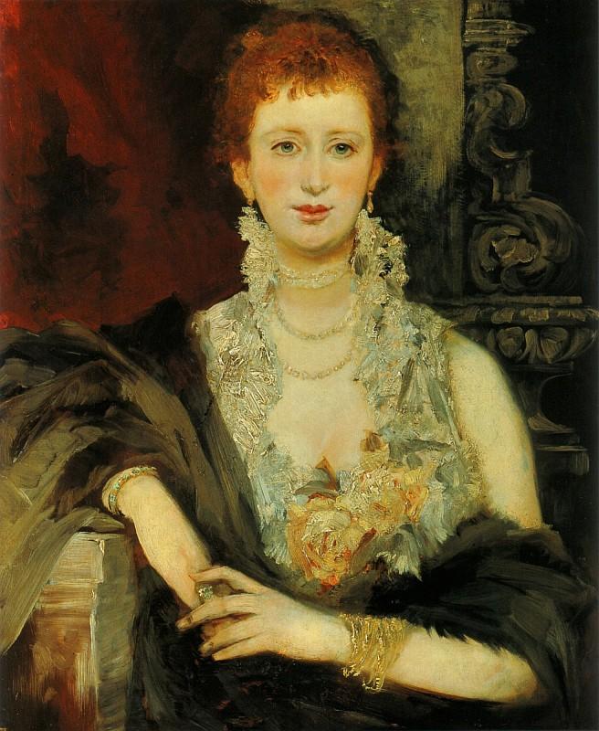 Makart, Portrait of Clothilde Beer, 1874