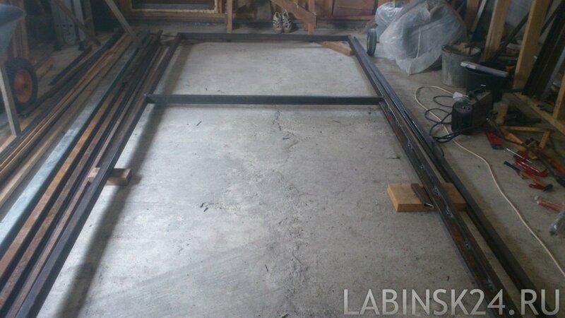 60х40 мм рама для откатных ворот 6 метров на 1,7 метра