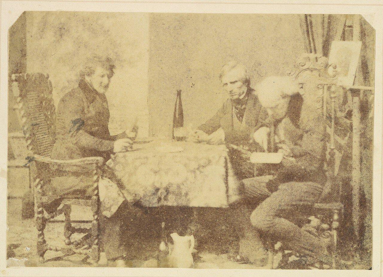 1840-е. Беседа за бокалом вина