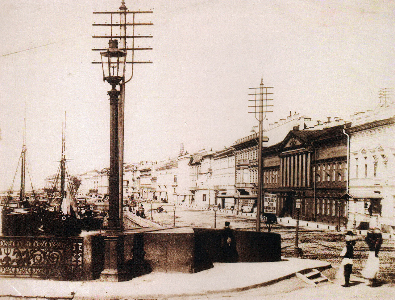 Николаевский мост и вид на Английскую набережную. 1880-е