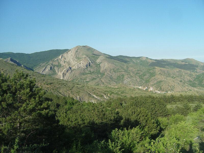 """""""вихревая"""" гора и кусок Зеленогорья"""