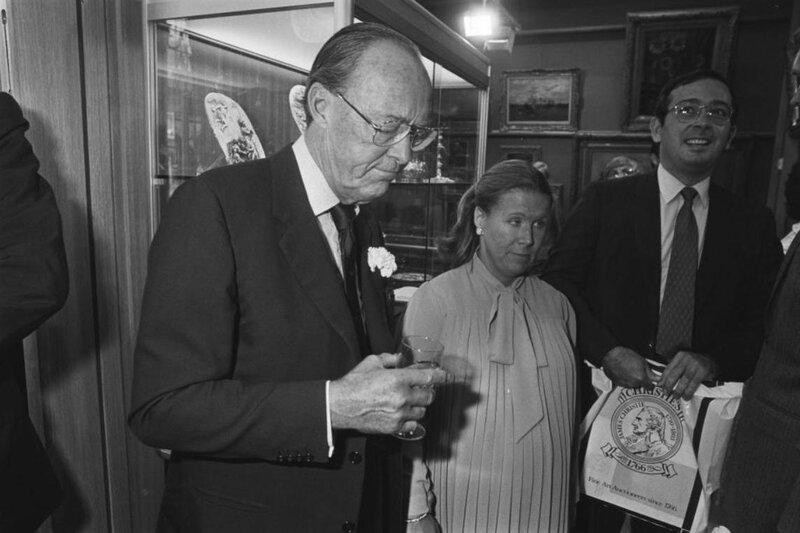 24 september 1981. На официальном открытии аукционного дома Кристис в Амстердаме.