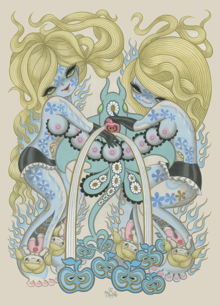 Иллюстрации в стиле готический каваий стиль нуар