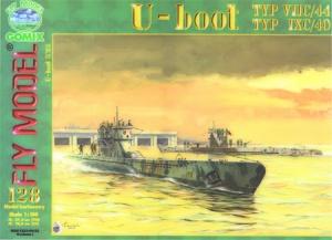 Журнал Подводная лодка U-Boot typ IXC & VIIC-1 (Fly Model №128)