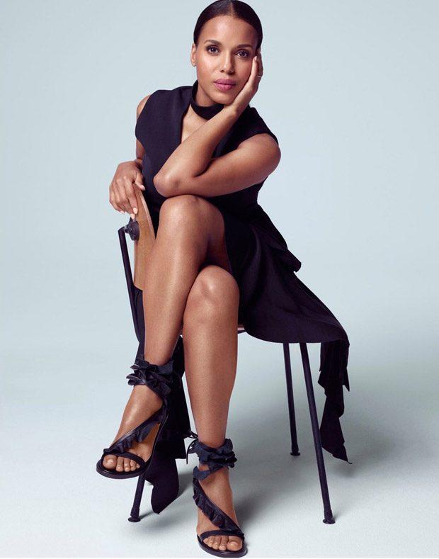 Scandal Star Kerry Washington Poses for The Edit Magazine