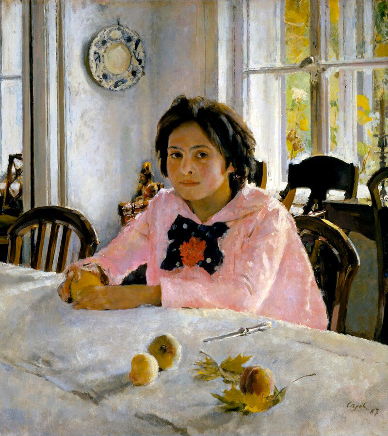 """""""Девочка с персиками"""", В.Серов, 1887"""