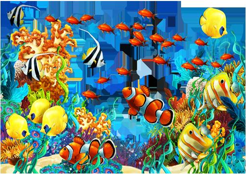 Клипарт PNG - Морские водоросли и кораллы