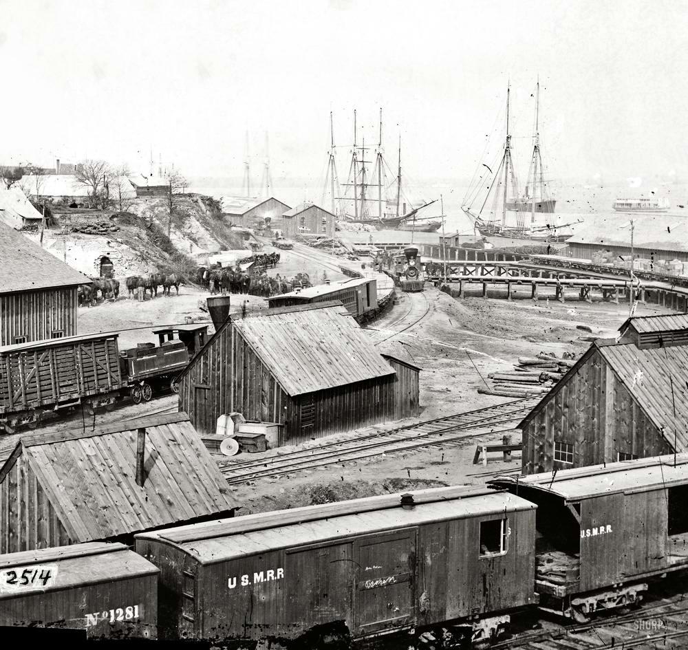 Железные дороги конца 19-го - начала 20-го века на снимках американских фотографов (8)