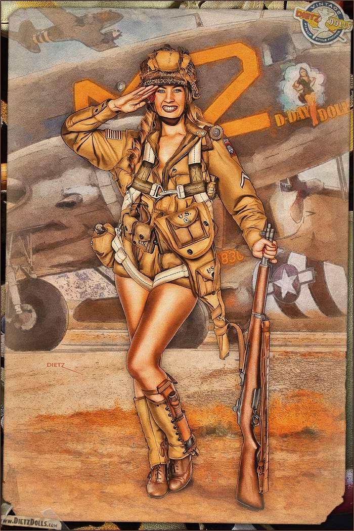 Армейский pin-up в стиле 1940-х годов от американского художника Britt Dietz (19)