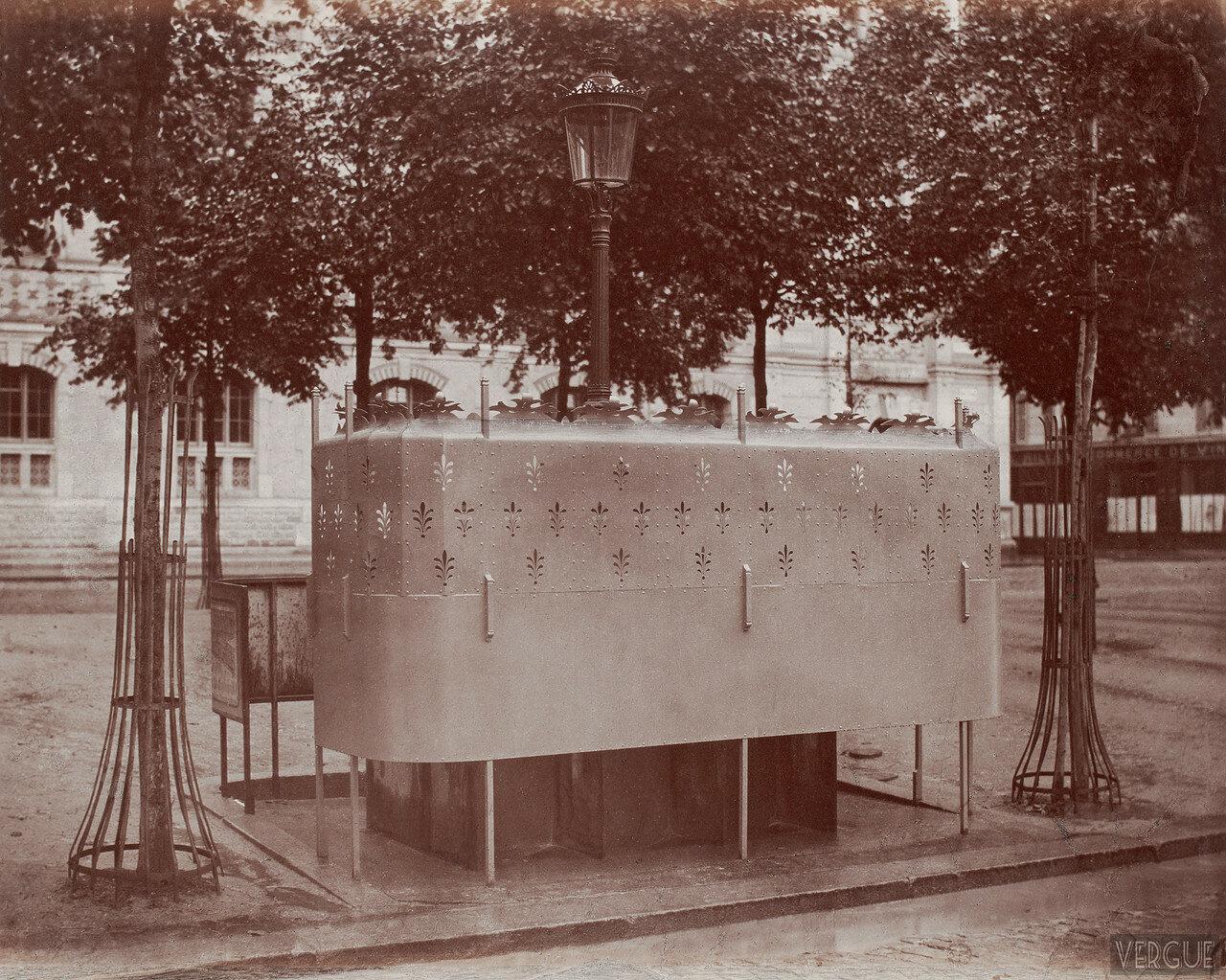 1875. Шестиместный писсуар на бульваре Батиньол