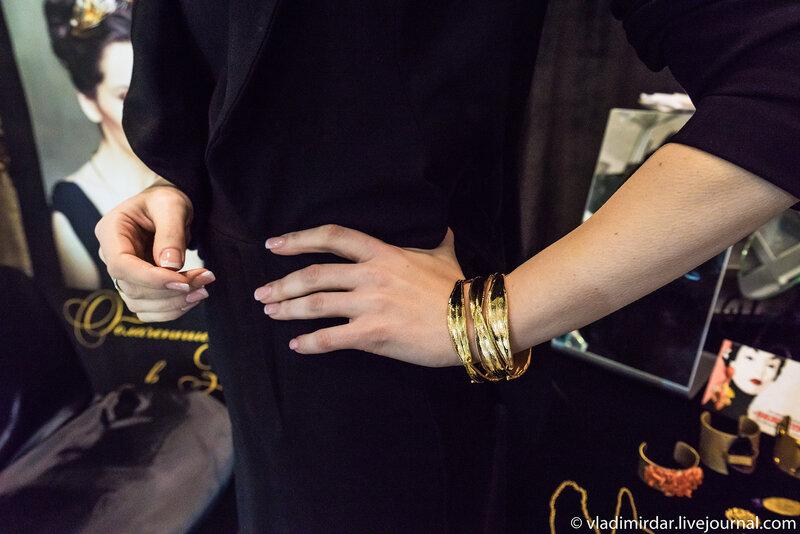Живой золотой  браслет