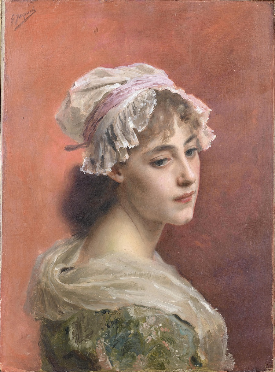 «Lost in thought» French, 1846-1909 Oil On Panel 24 x 32 cm  Private collection .jpg