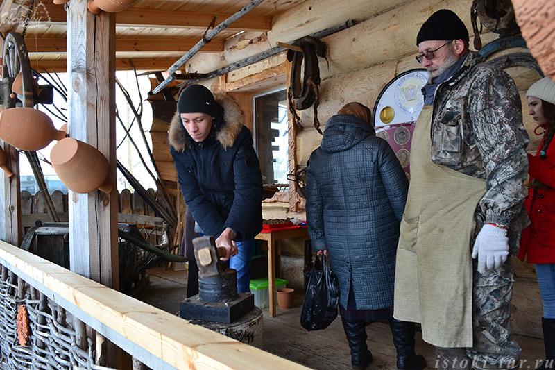 Экскурсия в гончарную мастерскую в деревне Нижние Таволги