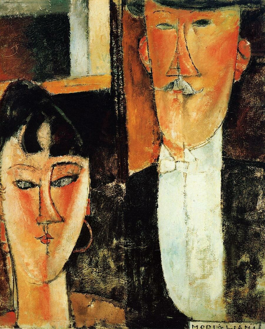 Bride and Groom (also known as The Newlyweds) - 1915-1916 - oil on canvas.jpeg