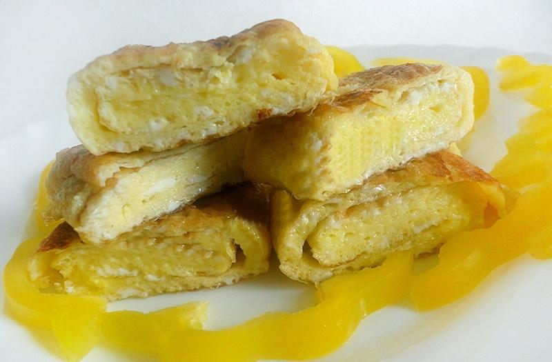 3. Классический французский омлет Ингредиенты: 3 куриных яйца; 50 г сливочного масла; соль; белый пе