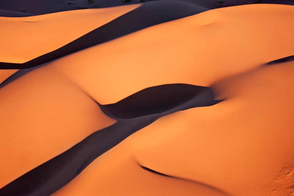 4. Красные песчаные дюны Соссусфлей в пустыне Намиб