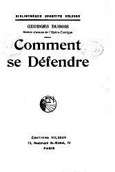 Книга Comment se Defendre