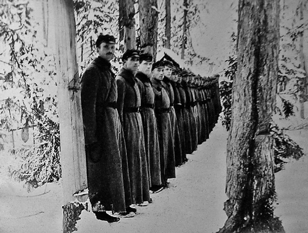 Военнослужащие 79-го Алданского дивизиона войск ОГПУ. Прииск Незаметный, Якутия. 1926