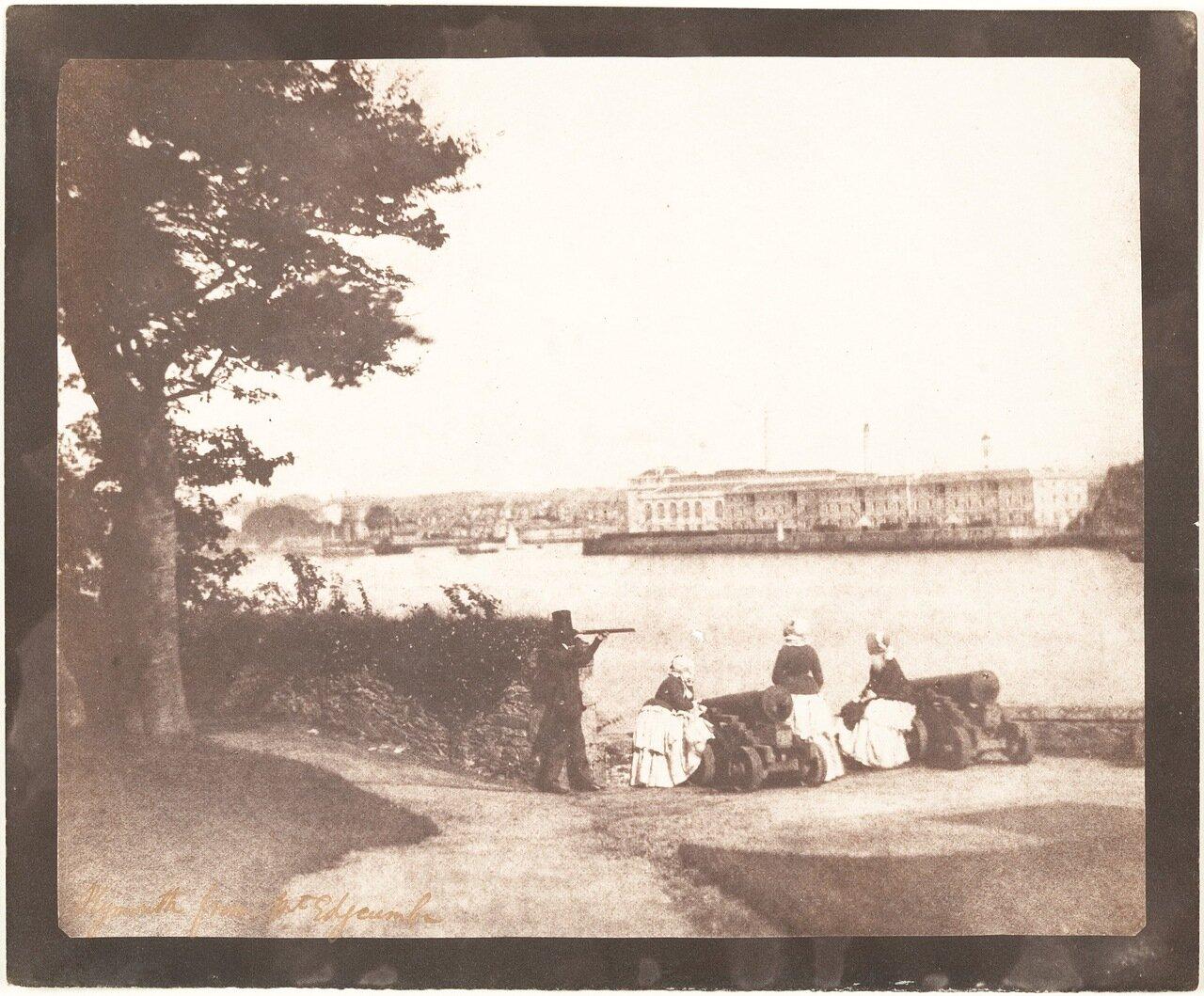 1845. Плимут с горы Эджкамб