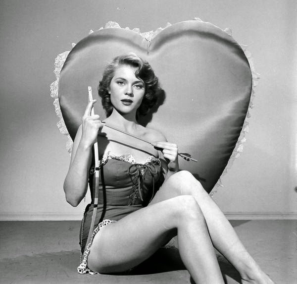 Peggie Castle in a LOOK magazine Valentine's Day spread, ca. 1950s.jpg