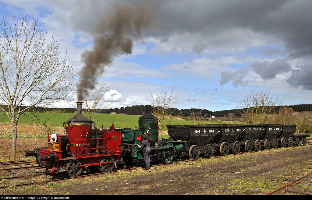 Locomotive Steam 0-4-0. Pit yard at Beamish, United Kingdom, April 12, 2012