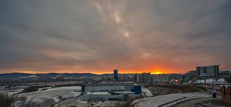 Вечер в Красноярске