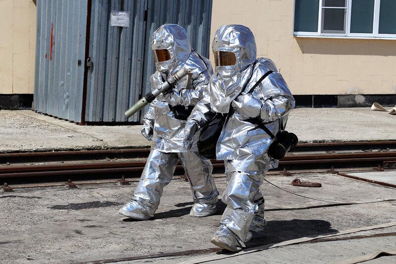 Чебоксарская ГЭС (учения пожарных)