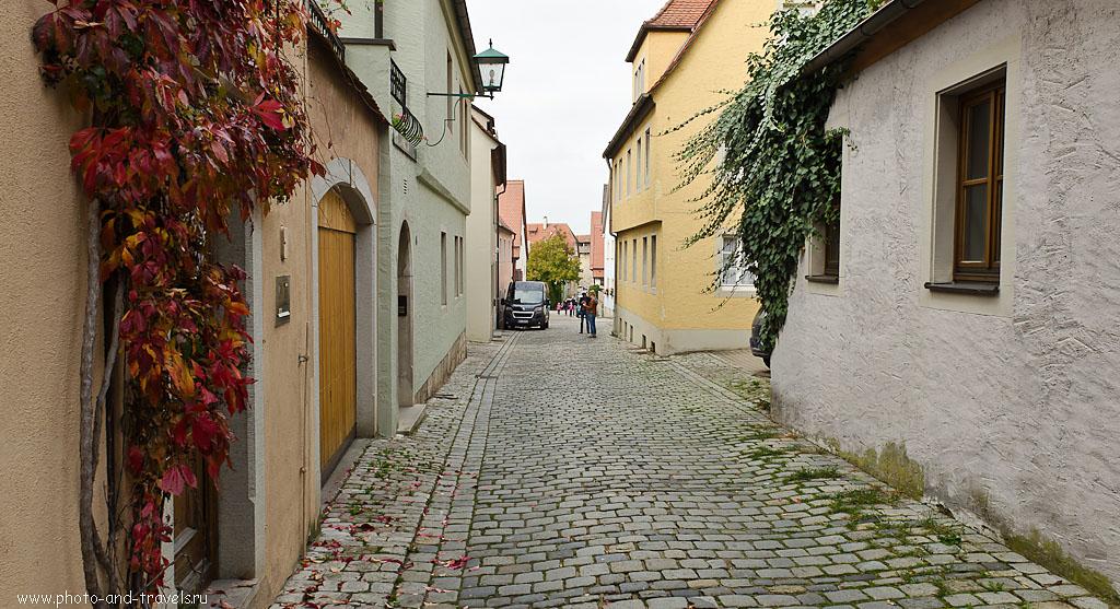 """6. На тихих улочках старинного города Ротенбург-на-Таубере. Отзывы об экскурсиях в окрестностях Франкфурта. Параметры съемки: 1/125 сек; -1 eV; режим """"А""""; f/8; 17 мм; 100."""