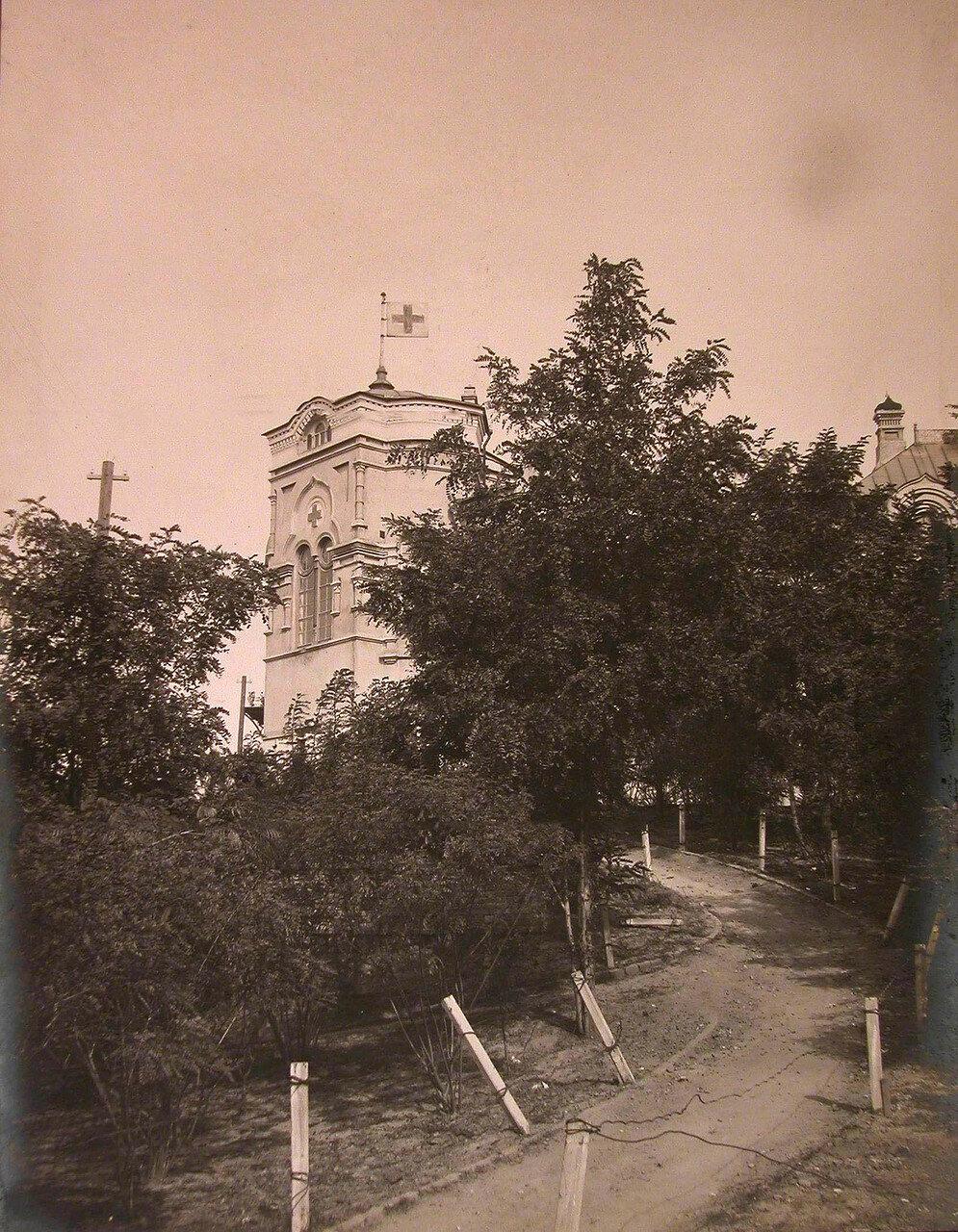 07. Дорожка в саду вблизи здания больницы
