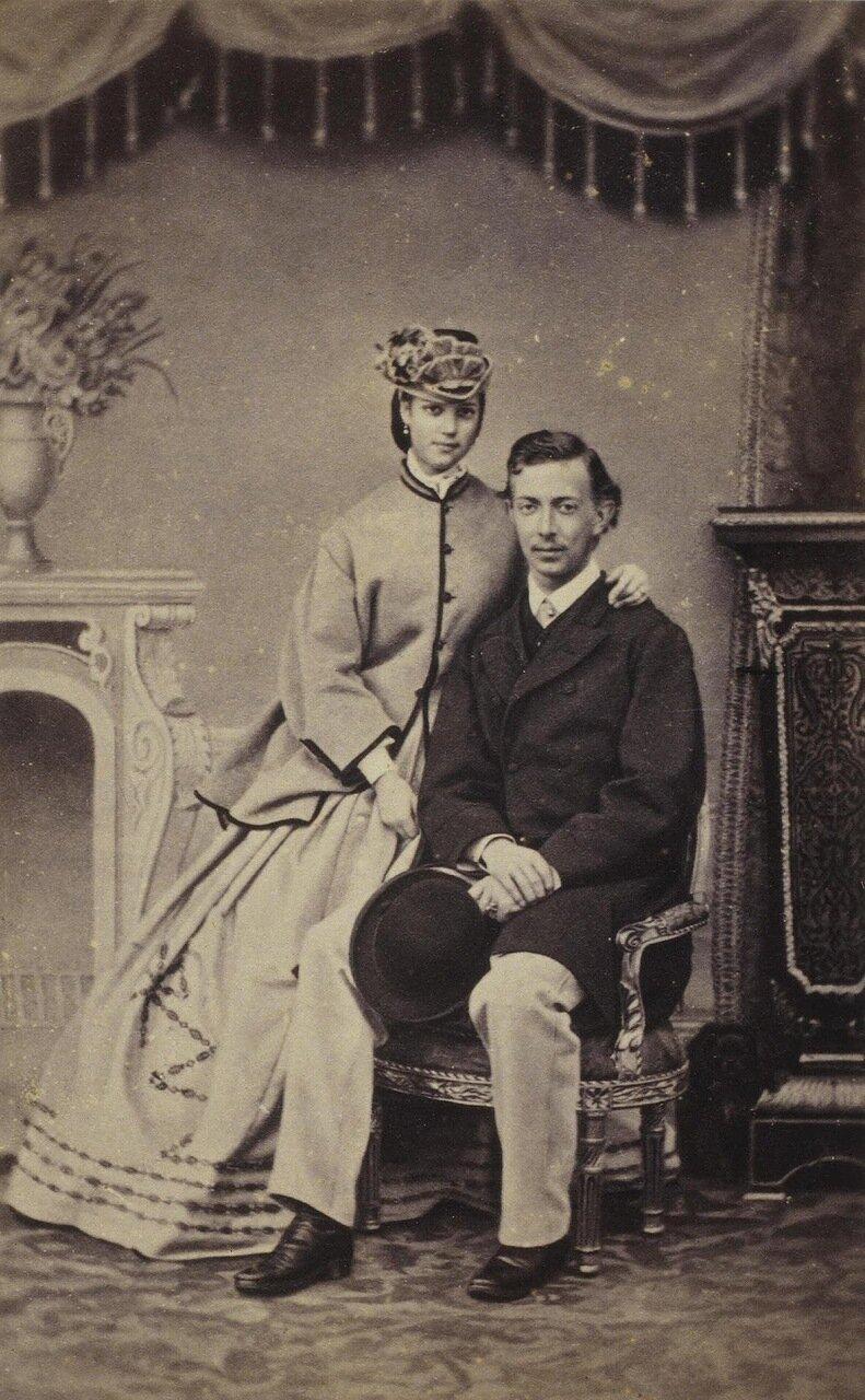 Портрет великого князя Николая Александровича и принцессы Дагмар